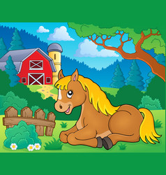 Horse topic image 2 vector