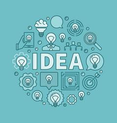 Idea round blue vector