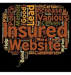 Insurance Leads how To Get Insurance Leads text vector