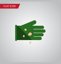 Isolated legume flat icon glove element vector