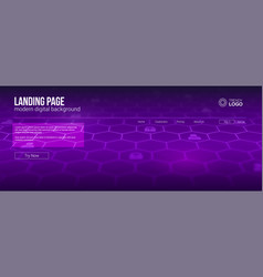 Landing page concept for hi-tech sites screen vector