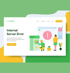 landing page template internal server error vector image