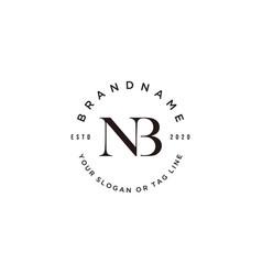 Letter nb logo design vector