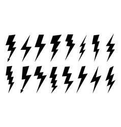 Lightning silhouette high voltage electrical vector