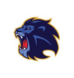 lion mascot roaring logo vector image