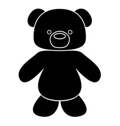 Little bear black color icon vector
