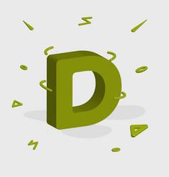 Logotype alphabet 3d logo letter d monogram logo vector