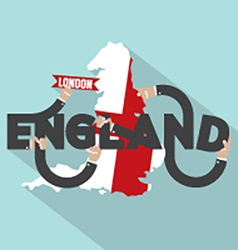 London The Capital City Of England Typography vector