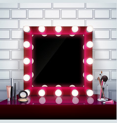 Makeup mirror composition vector