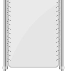 Metal racks vector