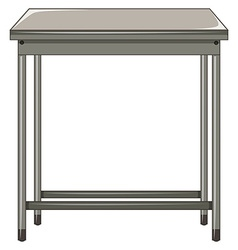 Metal table on white background vector