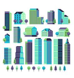 minimal buildings buildings and skyscrapers vector image