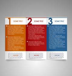 Modern brochure design element vector