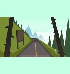 Mountain asphalt road vector