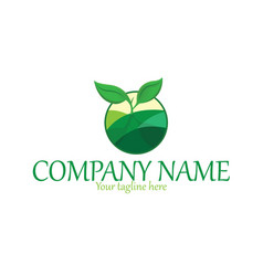 organic plant logo vector image vector image