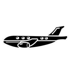 passenger airplane icon simple black style vector image