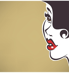 Pin up face vector