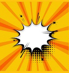 Pop art comic text speech bubble vector