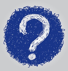 question mark 2 vector image