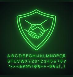 safe bargain neon light icon vector image