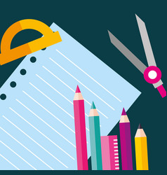 School supplies concept vector