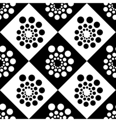 Seamless pattern with dots and circles vector