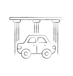 service center car water washing clean icon vector image