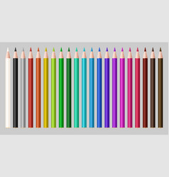 set a real color wood pencil vector image