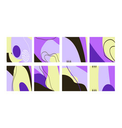 Set fun hand drawn colorful shapes doodle vector