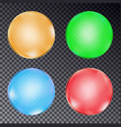set of colorful balls isolated on transparent back vector image