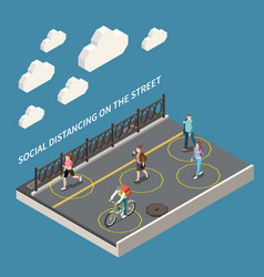 Street social distancing composition vector