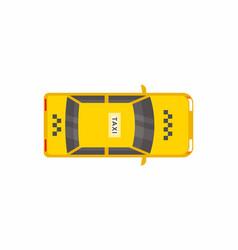 taxi car top view vector image