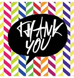 Thank you chevron colorful vector