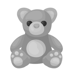 Toys donation icon in monochrome style isolated on vector