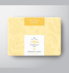 Vanilla soap cardboard box abstract vector
