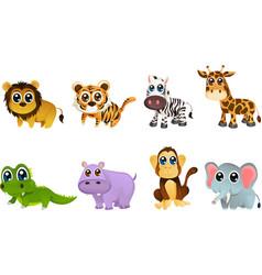 wildlife animal cartoons vector image