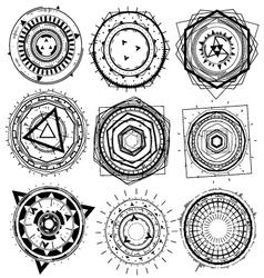 Wire geometric decorative shape element vector