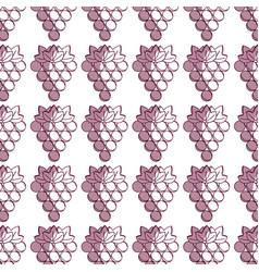 Delicious grape healthy fruit background vector