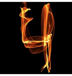 digit in fire vector image vector image