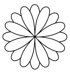 figure flower with petals icon vector image