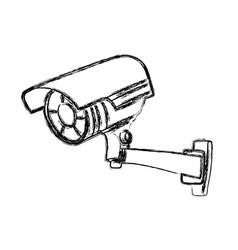 Black and White Surveillance Camera vector image