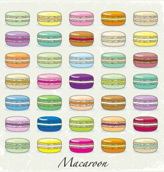 Colorful macaroon set vector image