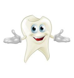 cute tooth dental mascot vector image