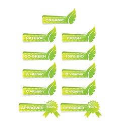 leaf green banner set vector image