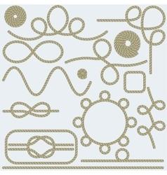 Rope hand lettering sea food restaurant menu vector image vector image