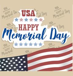 Usa memorial day happy memorial day card vector