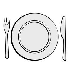wedding utensils icon cartoon vector image