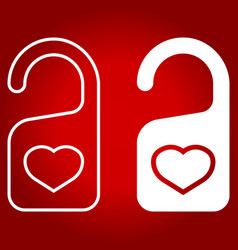 Do not disturb with heart line and glyph icon vector