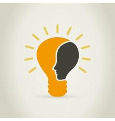 Head in a bulb vector image vector image
