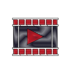 movie film strip icon play button vector image vector image